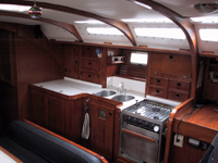Tranquilo Rental Sailboat, Interior Salon